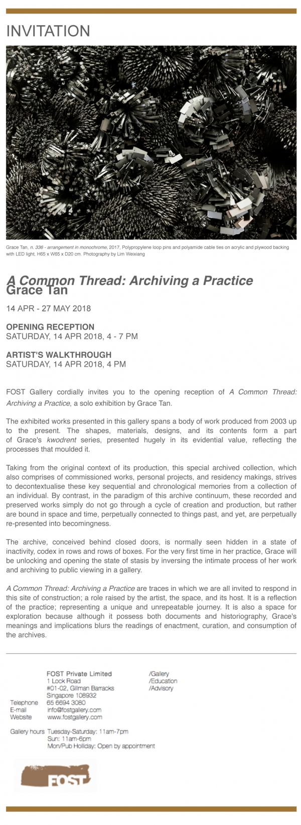 A Common Thread: Archiving a Practice